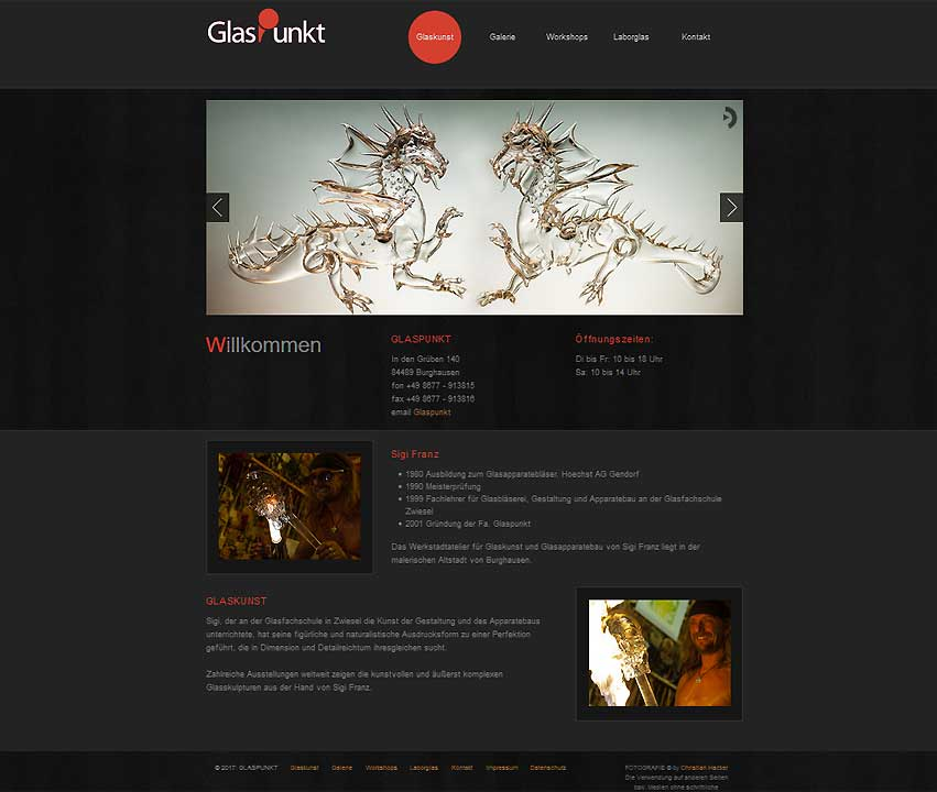 Website-Projekt Glaspunkt Burghausen