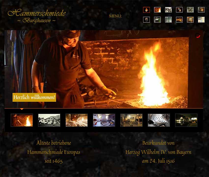 Website-Projekt Hammerschmiede Burghausen